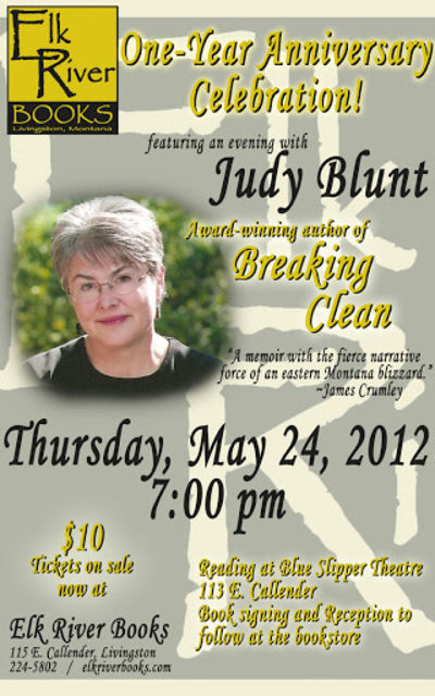 Judy Blunt (Elk River Books 1st Anniversary) Poster, 24 May 2012, Blunt, Judy