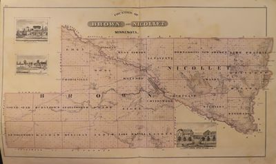 Image for Counties of Brown and Nicollet 1874 - from Illustrated Historical Atlas of  the State of Minnesota