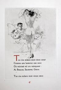 Chansons pour elle. Pointes-sèches du peintre-graveur Lobel-Riche by Verlaine, Paul - Lobel-Riche, Alméry (ill.) - 1945