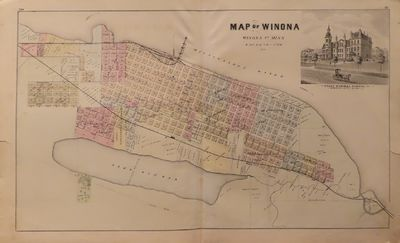 Image for Map of Winona 1874 - from Illustrated Historical Atlas of the State of  Minnesota