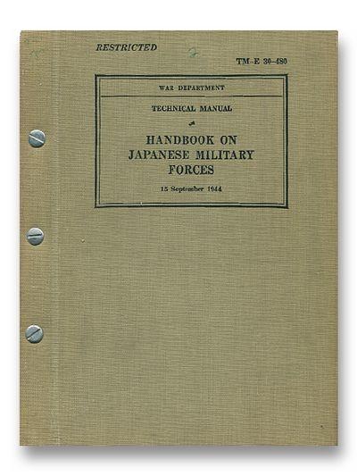 Technical Manual Handbook on Japanese Military Forces  15 September 1944   TM-E 30-480