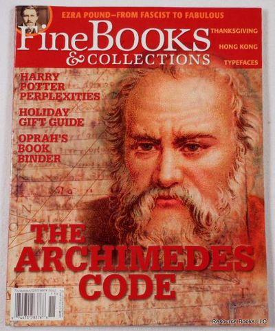 Fine Books & Collections.  November/December 2007.  No. 30 (Vol. 5, No. 6), Fine Books & Collections Magazine