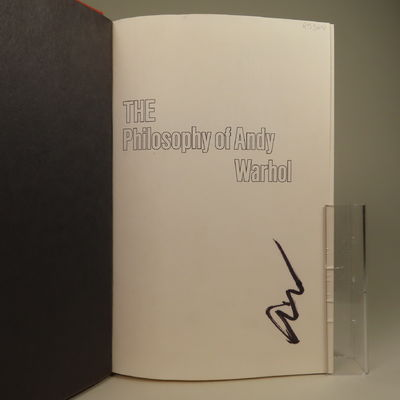 Image for The Philosophy of Andy Warhol (From A to B & Back Again) SIGNED
