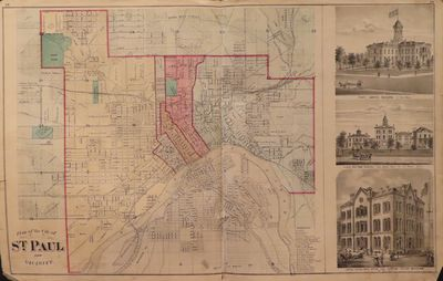 Image for Plan of the City of St. Paul and Vicinity 1874 - from Illustrated  Historical Atlas of the State of Minnesota