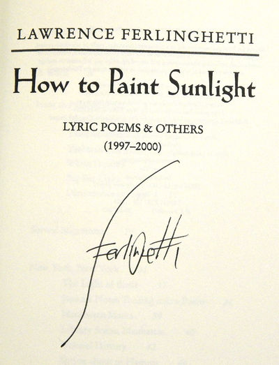How to Paint Sunlight: New Poems, Ferlinghetti, Lawrence