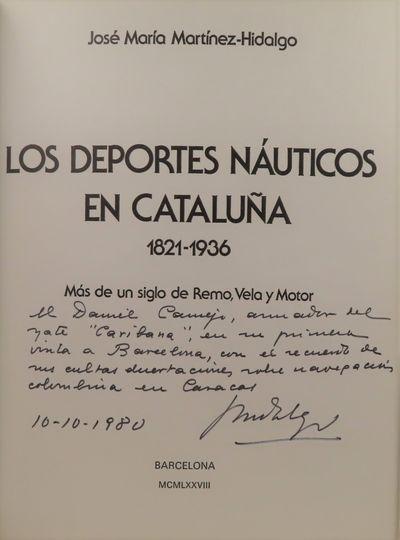 Image for Los Deportes Nauticos en Cataluna.  Mas de un siglo de Remo, Vela y Motor