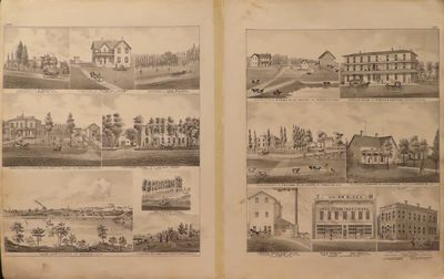 Image for Maps of Owatonna, Northfield, Mantorville & Kasson, Minn. 1874 - from  Illustrated Historical Atlas of the State of Minnesota