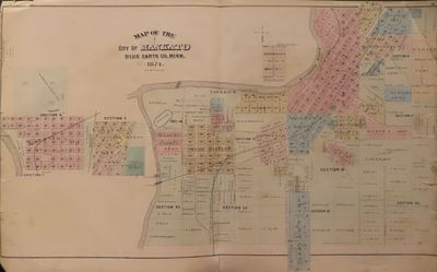 Image for Map of Mankato 1874 - from Illustrated Historical Atlas of the State of  Minnesota