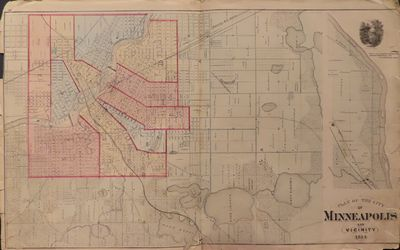 Image for Plan of the City of Minneapolis and Vicinity 1874 - from Illustrated  Historical Atlas of the State of Minnesota