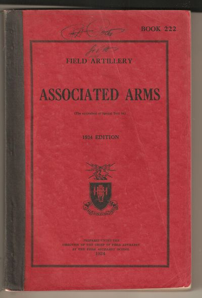 Field Artillery Associated Arms Book 222 1934