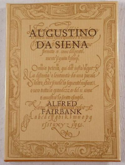 Augustino da Siena. The 1568 Ediiton of His Writing Book in Facsimile, Augustino da Siena