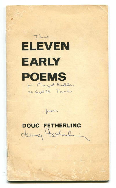 Eleven Early Poems, Fetherling, Doug