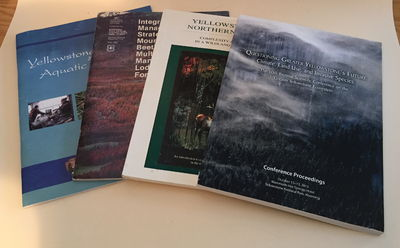 Four volumes related to Yellowstone ecosystem science, Various