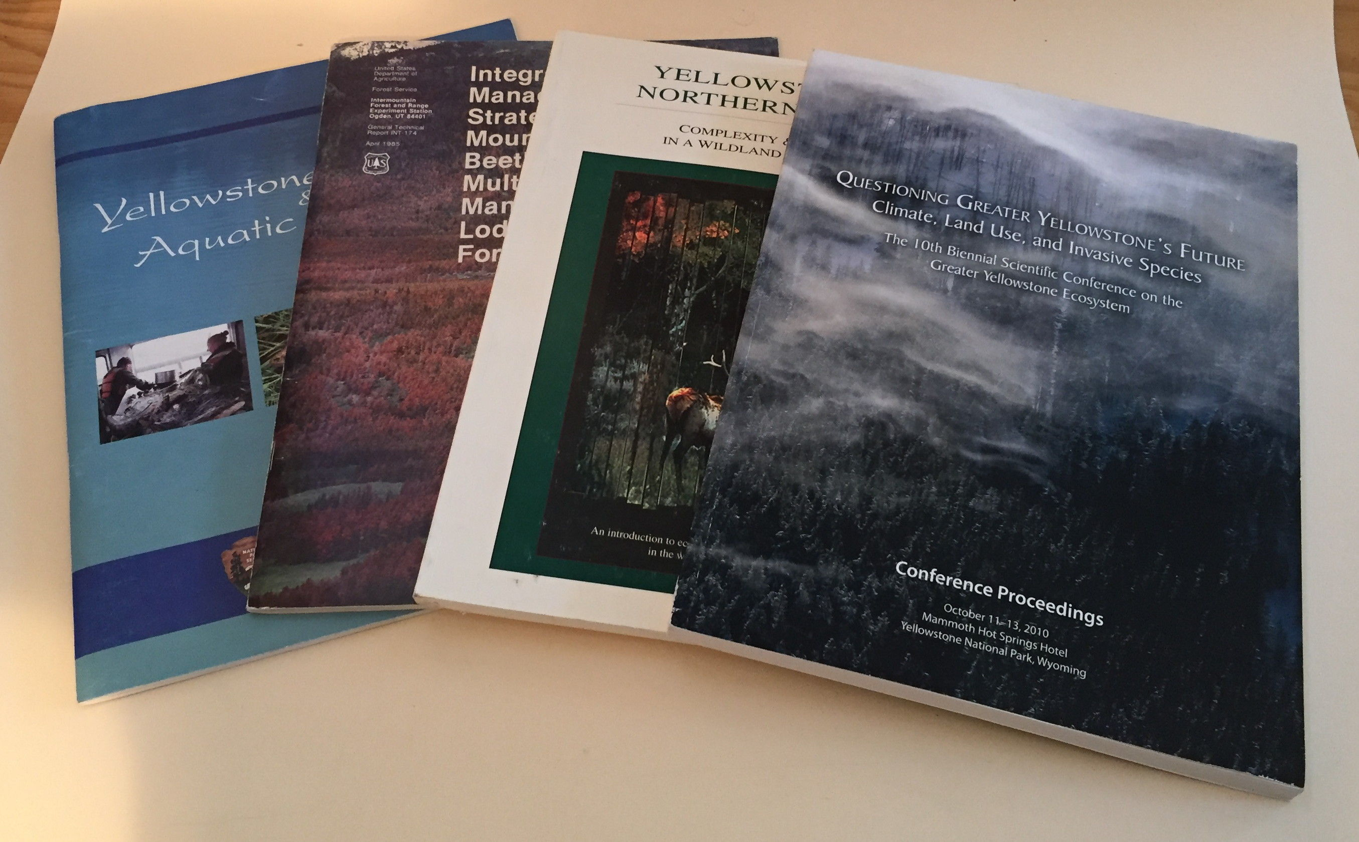 Image for Four volumes related to Yellowstone ecosystem science