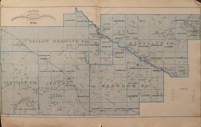Image for Map of Redwood, Yellow Medicine, Lincoln & Lyon Counties 1874 - from  Illustrated Historical Atlas of the State of Minnesota