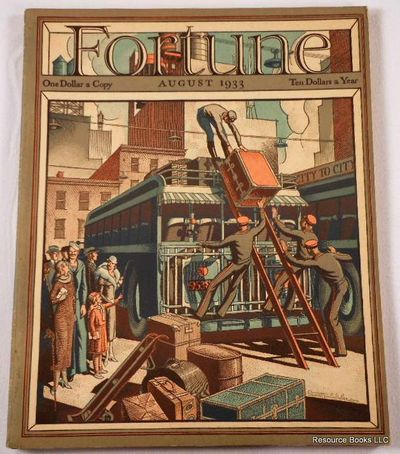 Fortune Magazine.  August 1933 - Volume VII, Number 8, Fortune Magazine.  Edited By Henry Luce