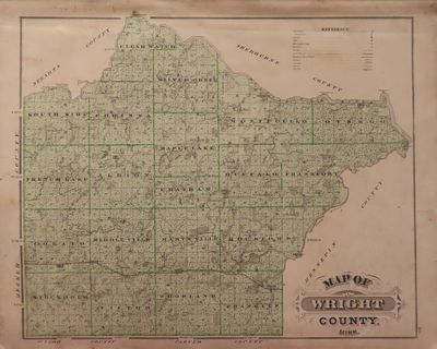 Image for Map of Wright County 1874 - from Illustrated Historical Atlas of the State of Minnesota