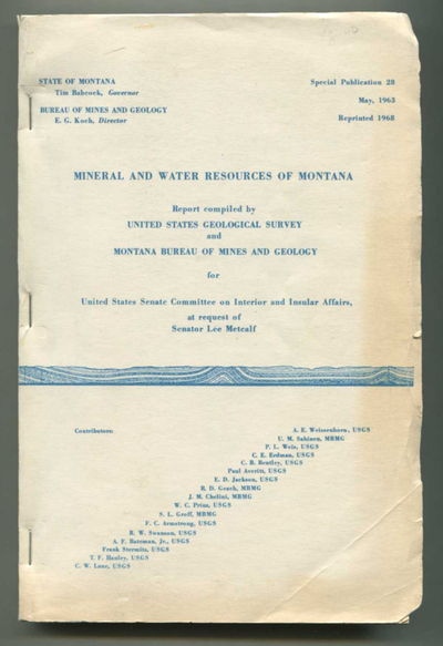 Mineral and Water Resources of Montana, US Geological Survey and Montana Bureau of Mines