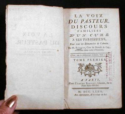 Image for La Vois Du Pasteur.  Discours Familiers D'un Cure a Ses Paroissiens, Pour Tos Les Dimanches De l'Anne.  Tome Premier
