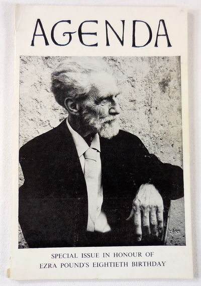 Image for Agenda: Special Issue in Honor of Ezra Pound's Eightieth Birthday. Vol. 4, No. 2. October-November 1965