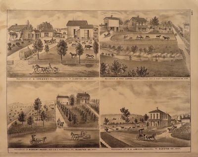 Image for Lithographs of Residences in Dodge and Olmsted Counties, Minn. 1874 - from  Illustrated Historical Atlas of the State of Minnesota