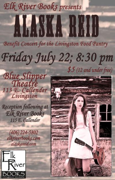 Alaska Reid Concert Poster, 22 July 2011, Reid, Alaska