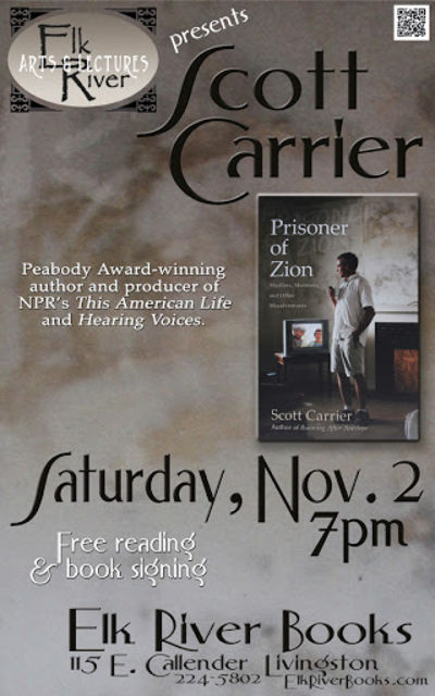 Scott Carrier Poster, 02 November 2013, Carrier, Scott