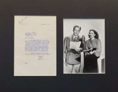 Image for Original Bing Crosby SIGNED Letter and Photograph