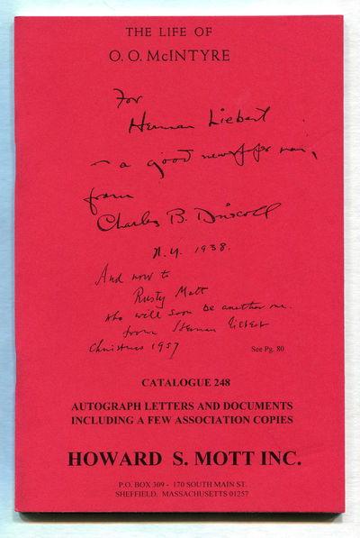 Catalogue 248: The Life of O.O. McIntyre, Mott, Howard S.