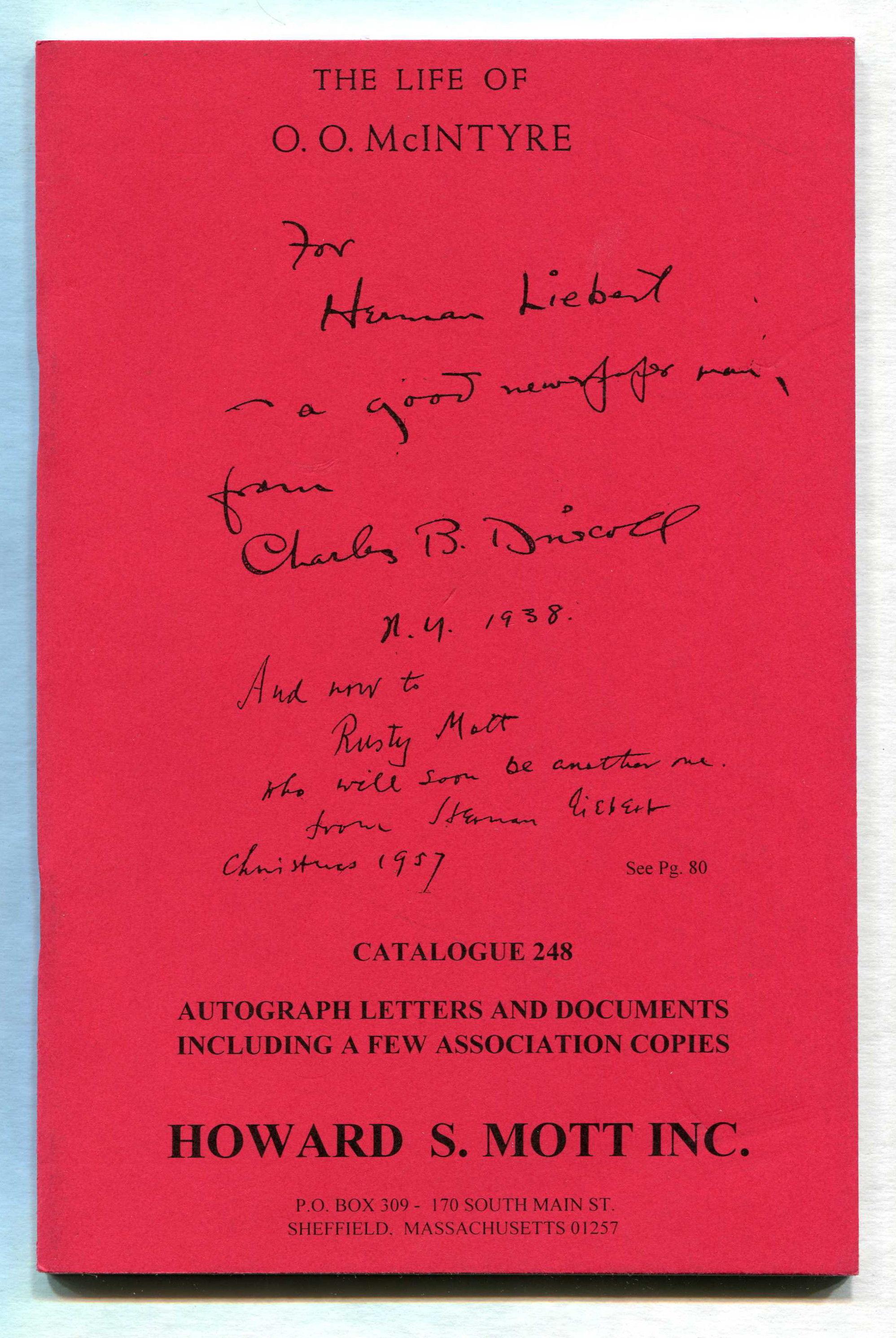 Image for Catalogue 248: The Life of O.O. McIntyre
