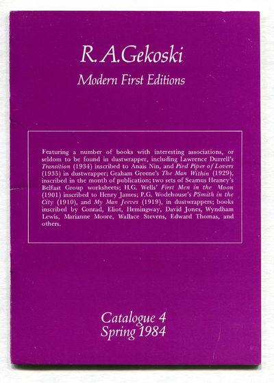 Catalogue 4 Spring 1984, Gekoski, R.A.