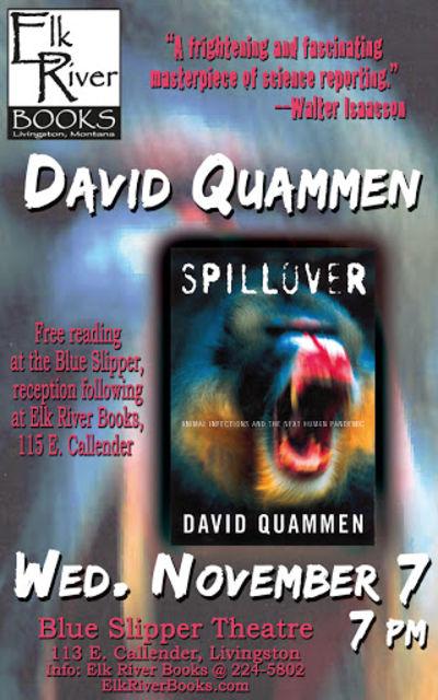 David Quammen Poster, 07 November 2012, Quammen, David