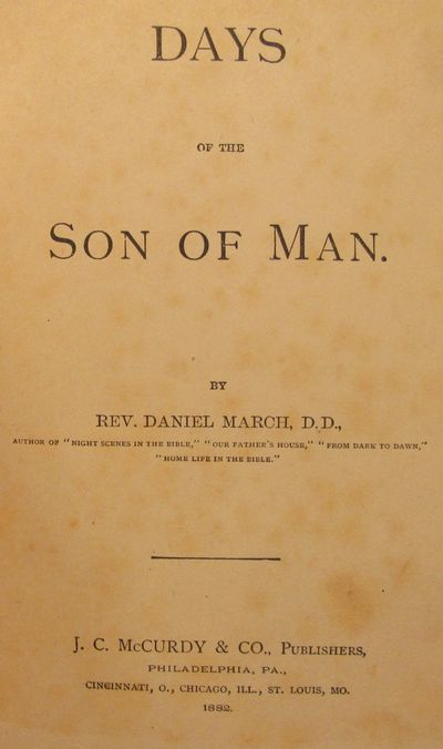 Image for Days of the Son of Man