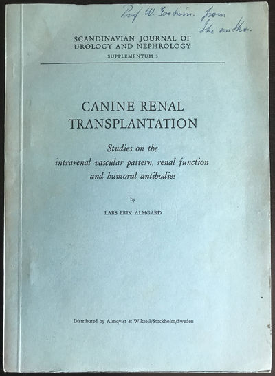 Image for Canine renal transplantation. Studies on the intrarenal vascular pattern, renal function and humoral antibodies.