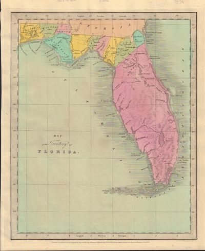 Image for Map of the Territory of Florida