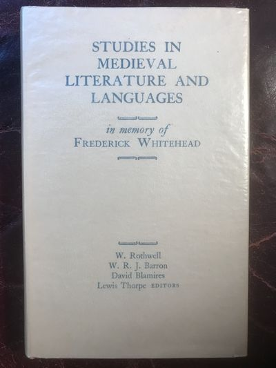 Image for Studies In Medieval Literature And Languages In Memory Of Frederick Whitehead Hardcover Merlin's Sardonic Laughter Lewis Thorpe