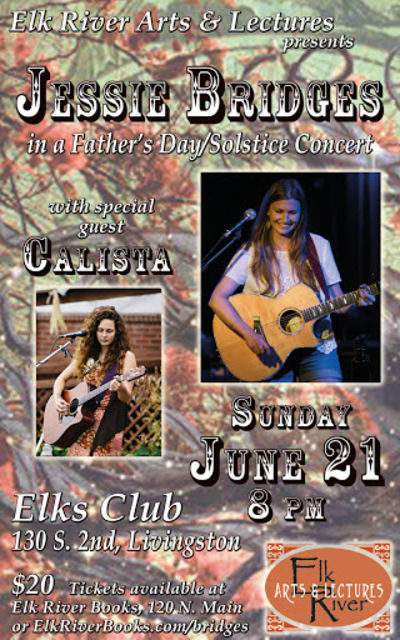 Jessie Bridges wsg Calista Concert Poster, 21 June 2015, Bridges, Jessie and Calista