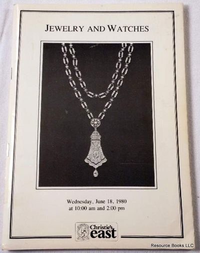 Jewelry and Watches.  New York - Christie's East - June 18, 1980.  Sale 112, Christie's East [Auction Catalogue]