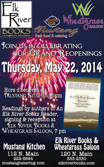 Elk River Books 3rd Anniversary Poster, 22 May 2014, Elk River Books