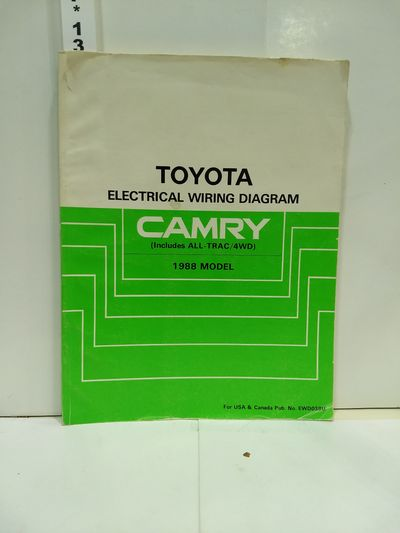 Image for Toyota Camry 1988 Electrical Wiring Diagram