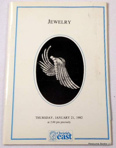 Jewelry.  New York - Christie's East - June 21, 1982.  Sale 246, Christie's East [Auction Catalogue]