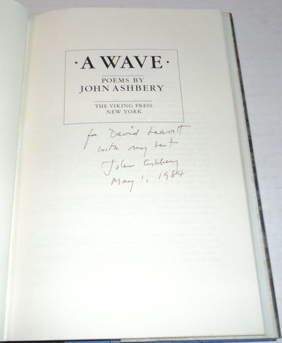 A WAVE SIGNED by JOHN ASHBERY