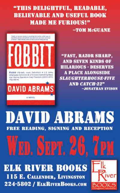 "David Abrams ""Fobbit"" Poster, 26 September 2012, Abrams, David"