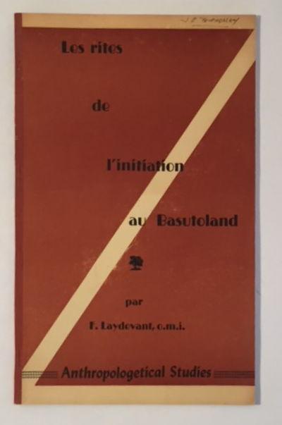 Les Rites des L'Initiation au Basutoland, Laydevant, F.
