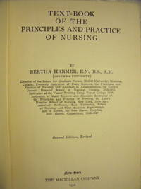 Text-book of the Principles and Practice of Nursing by Harmer, Bertha - 1932 - from Charity Bookstall and Biblio.com