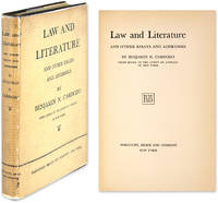 benjamin cardozo law and literature essay Law and literature and other essays and addresses by benjamin n cardozo, 9780837720098, available at book depository with free delivery worldwide.