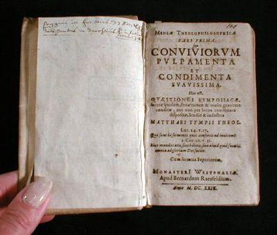 Image for Conviviorum Pulpamenta et Condimenta Suavissima; and Alcedonia Studiosorum.  Mensae Theolophilosophica, Pars Prima and Par Altera.