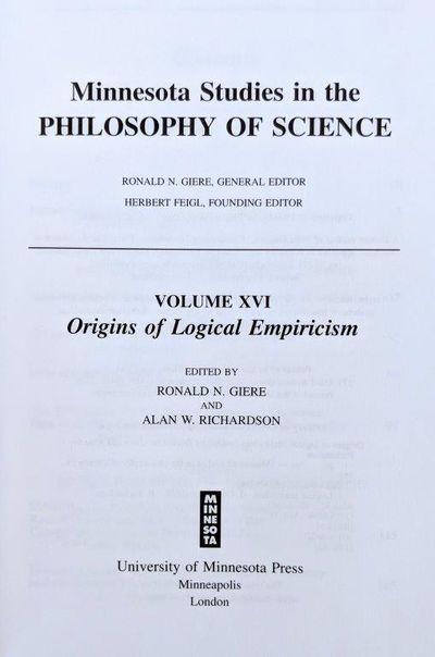Image for Origins of Logical Empiricism.