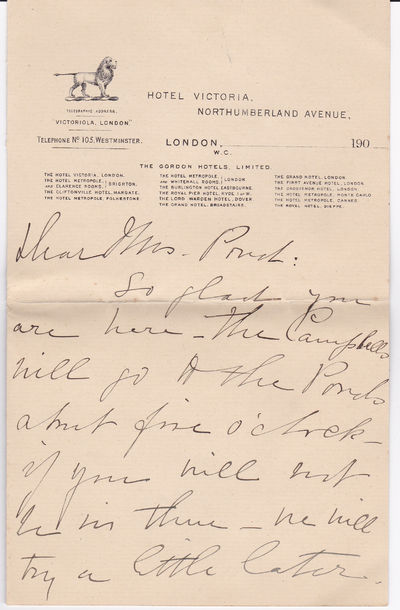 AUTOGRAPH LETTER SIGNED BY HENRIETTA CROSMAN., Crosman, Henrietta. (1861-1944). American stage actor and early silent film star.