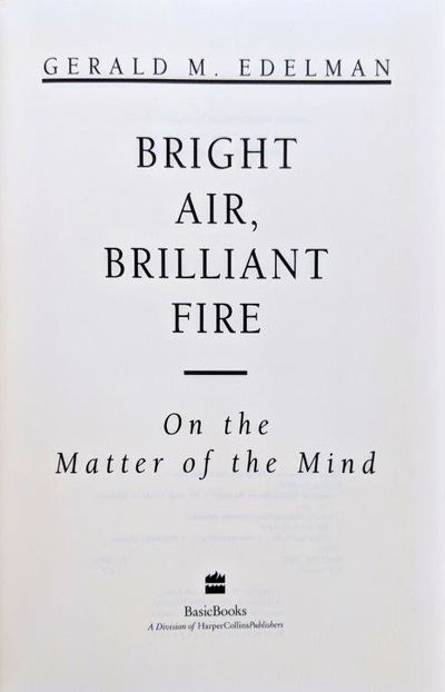 Image for Bright Air, Brilliant Fire, on the matter of the mind.